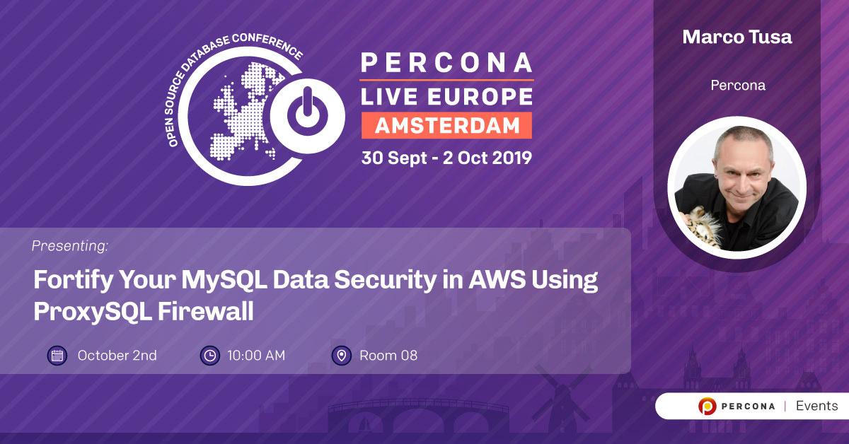 Percona Live Europe 2019